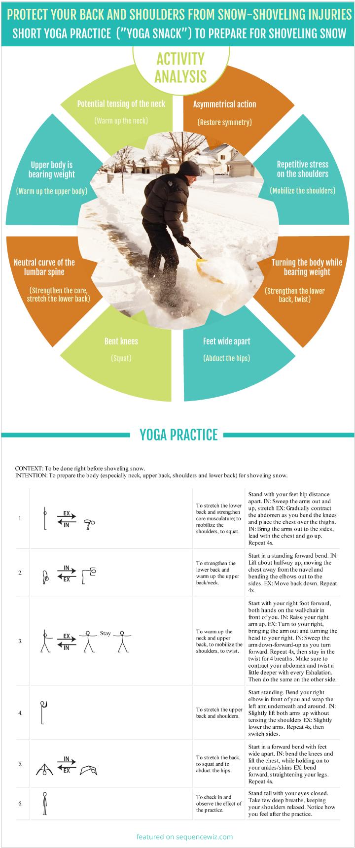 Show Shoveling Yoga Practice